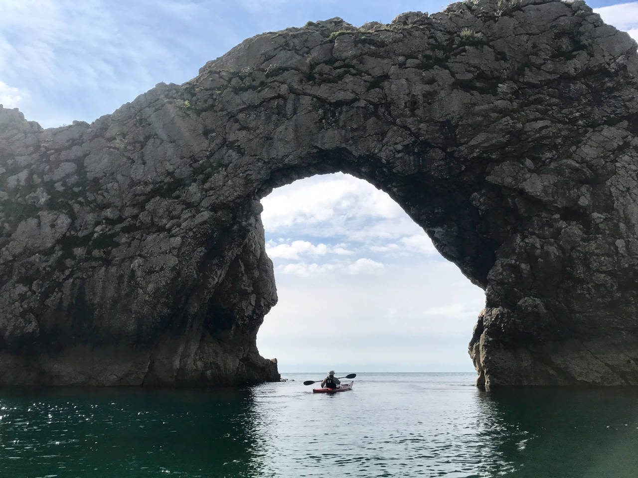 Sea Kayaking through Durdle Door
