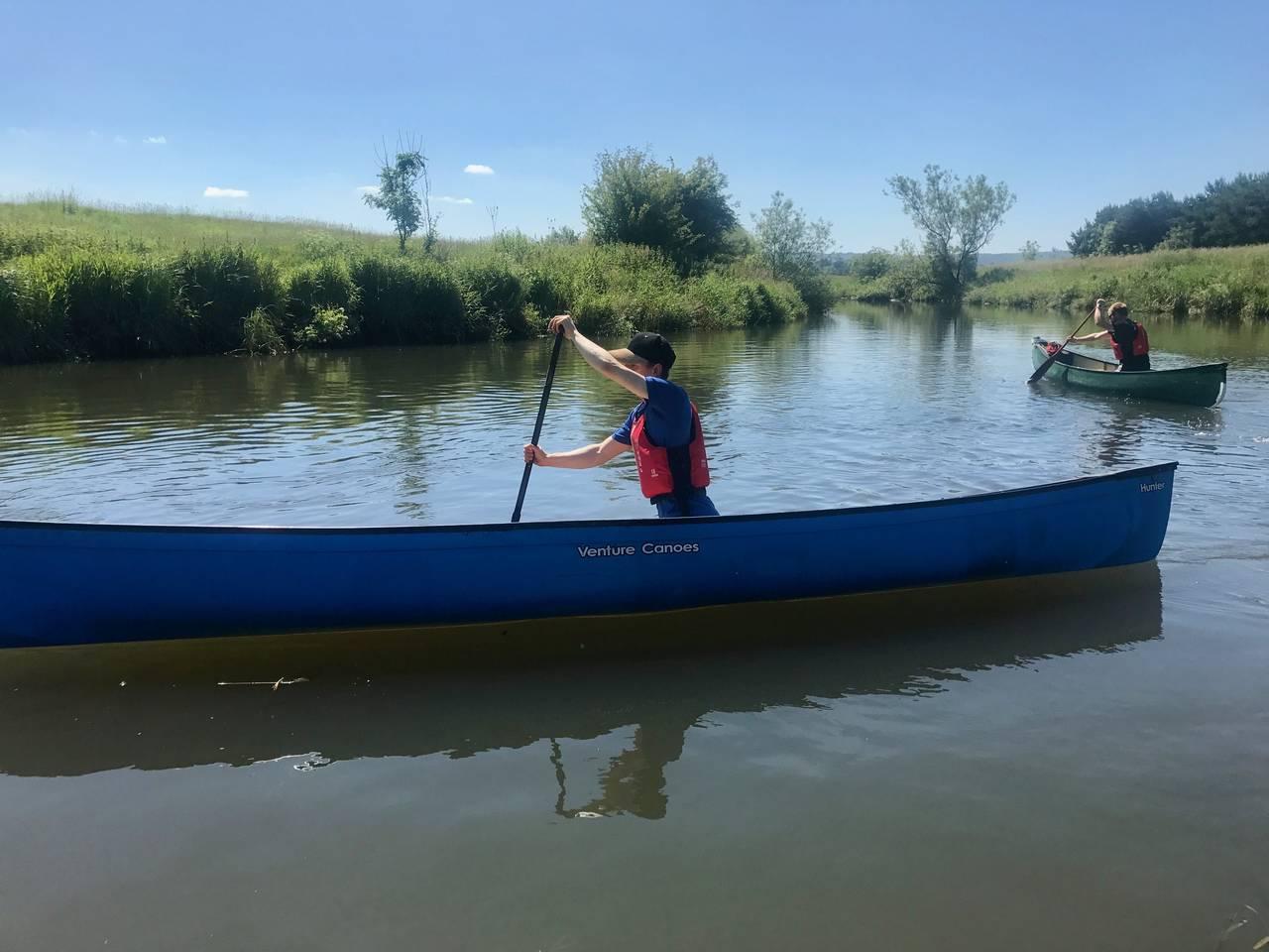 Solo Canoeing